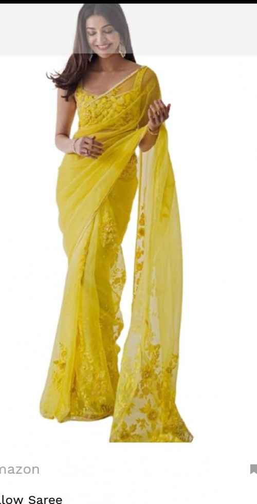 looking for this yellow saree - SeenIt