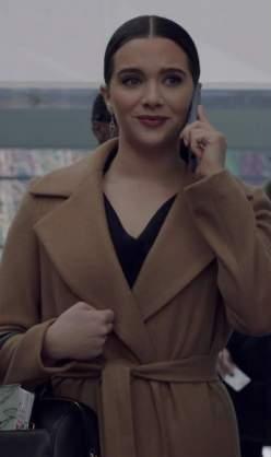 Jane Sloan's beige belted longline coat please - SeenIt
