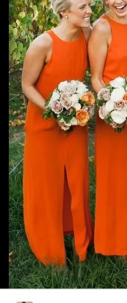 a similar orange dress - SeenIt