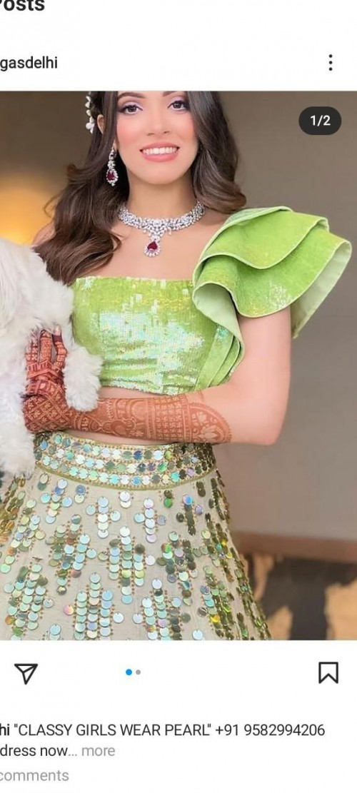 I am looking for similar sequin blouse of green colour. - SeenIt