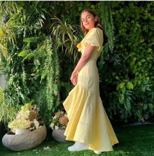 Yay or nay? Alia Bhatt seen wearing a yellow ruffle maxi dress - SeenIt