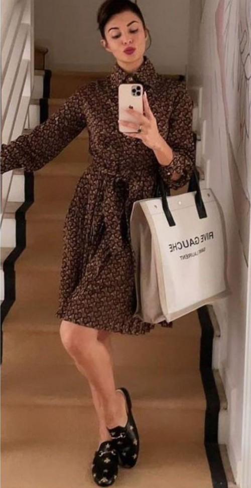 Looking for a similar dress like Jacqueline Fernandez is seen wearing - SeenIt