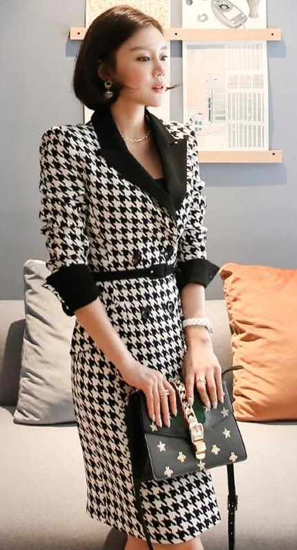 Help me find a similar black and white blazer dress - SeenIt