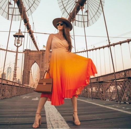 Looking for a similar orange midi dress online - SeenIt