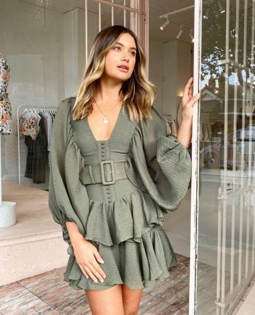 Need that olive green dress online - SeenIt