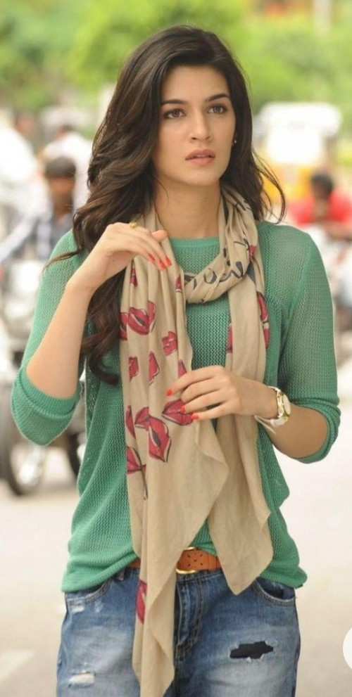 looking for this top and scarf worn by kriti sanon - SeenIt
