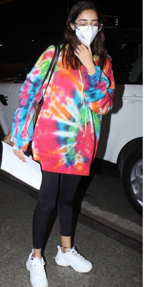 Yay or nay? Ananya Pandey seen wearing a tie and dye sweatshirt at the airport - SeenIt