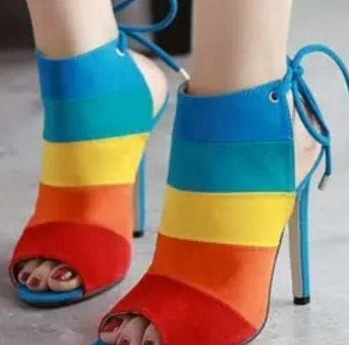 all size rainbow heel sandal - SeenIt