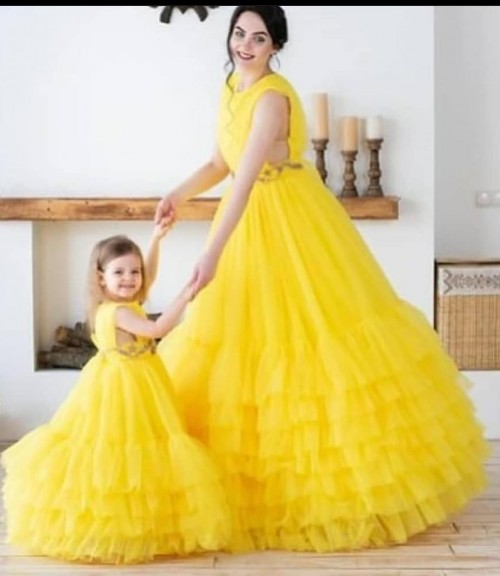 baby mother yellow cocktail gown party and wedding dress - SeenIt