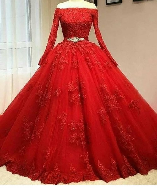 ethic crop red colour cocktail and fab gown - SeenIt