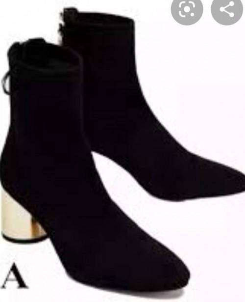 black gold heel boots - SeenIt