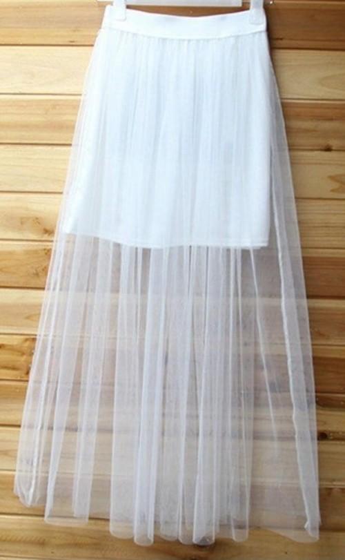 white net skirt - SeenIt