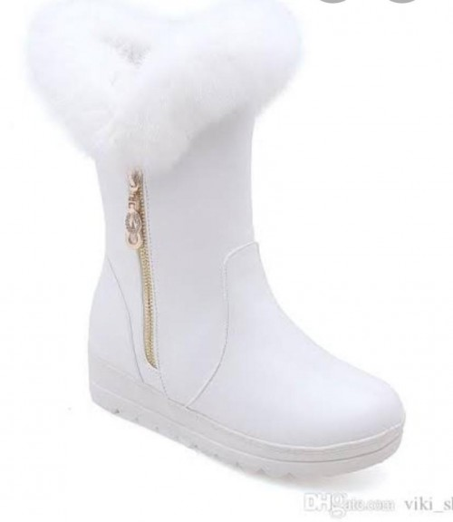 baby girl white boots - SeenIt