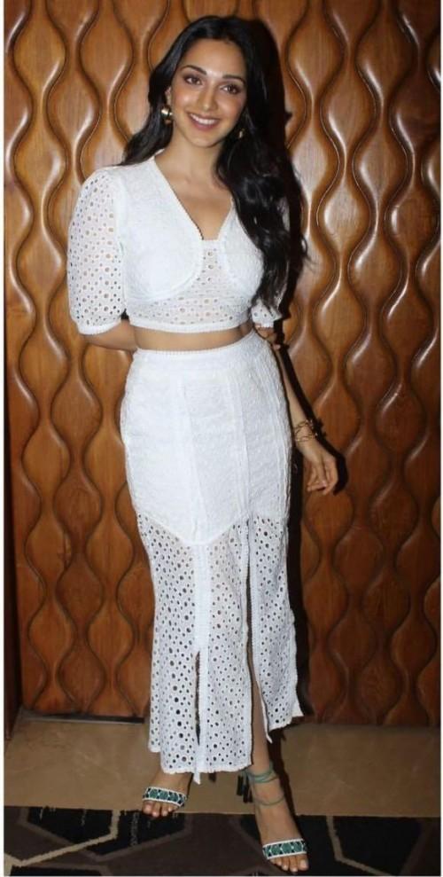 Yay or nay? Kiara advani seen wearing a white slit coord set - SeenIt