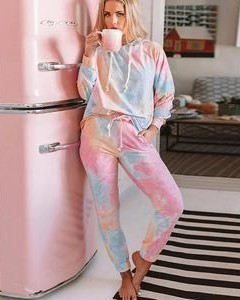 hey, can you help me find a similar tie and dye loungewear set, TIA - SeenIt