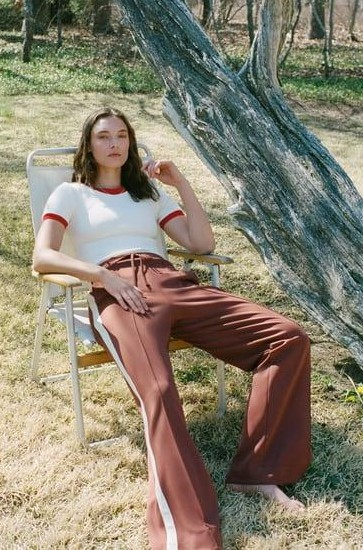 Help me find similar brown trousers and top - SeenIt