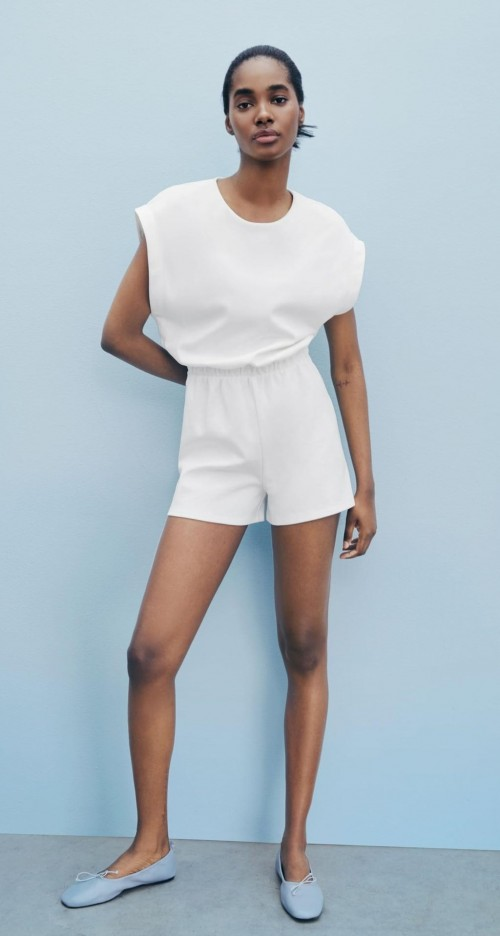 Help me find a similar white playsuit - SeenIt
