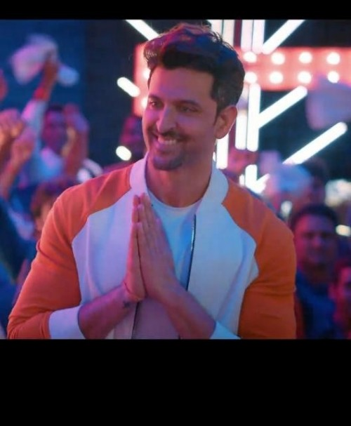 Need same orange and white jacket/sweatshirt wore by Hrithik - SeenIt