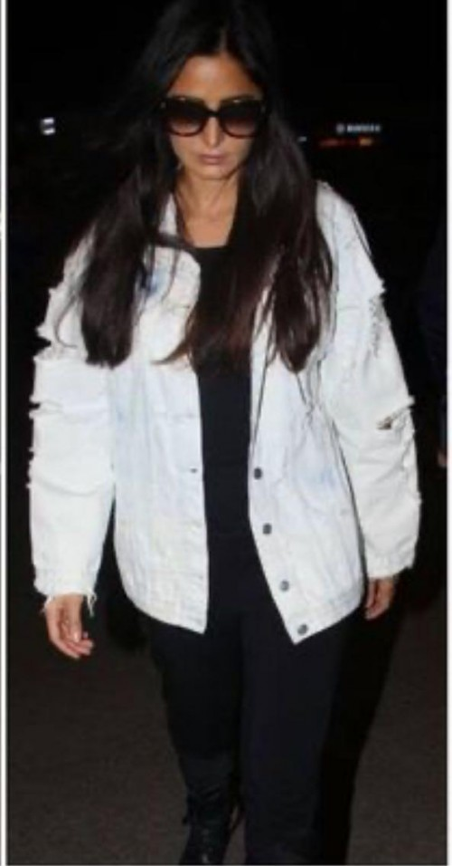 Katrina Kaif's white puffy jacket please - SeenIt