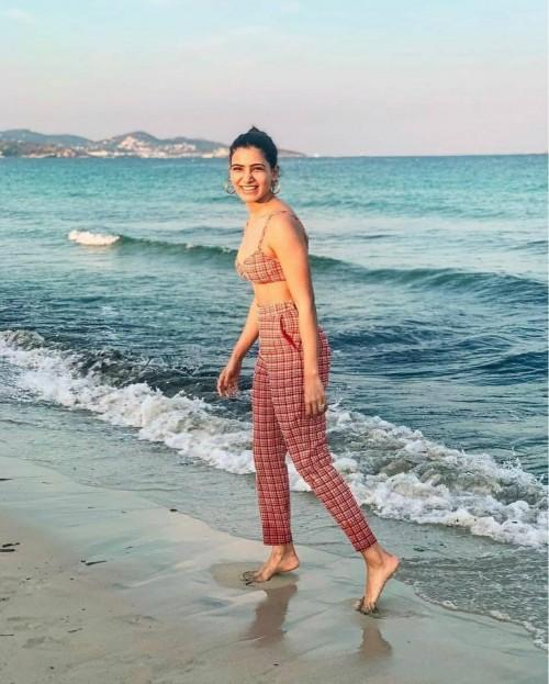 Yay or nay? Samantha Ruth Prabhu seen wearing a plaid red coord set - SeenIt