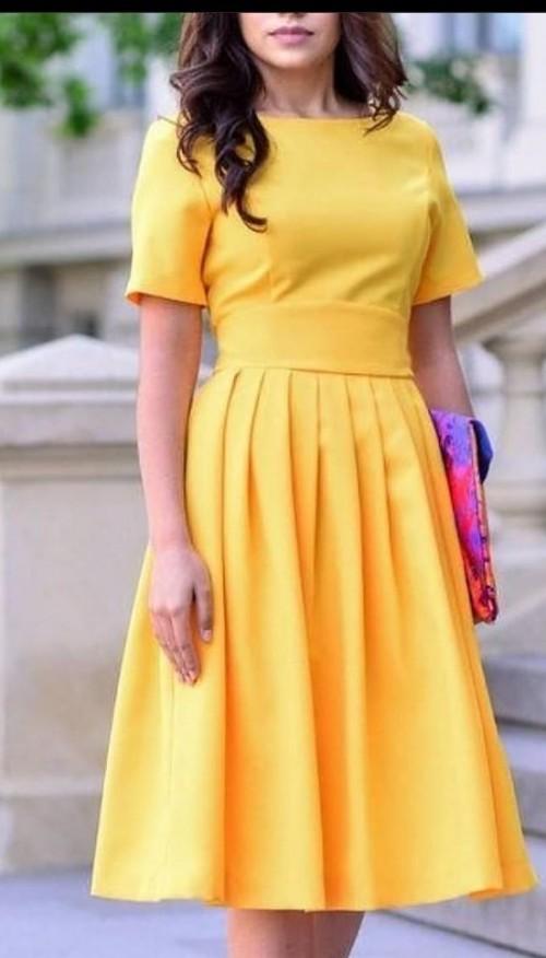 yellow frock  shirt skirt set new fashion - SeenIt