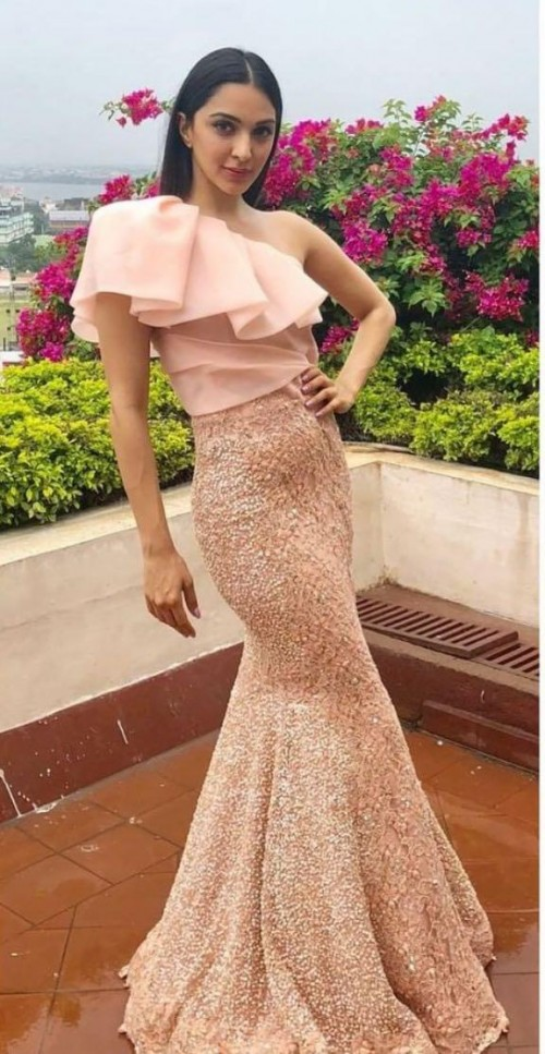 Yay or nay? Kiara Advani seen wearing a peach pink sequin outfit by Neeta Lulla - SeenIt