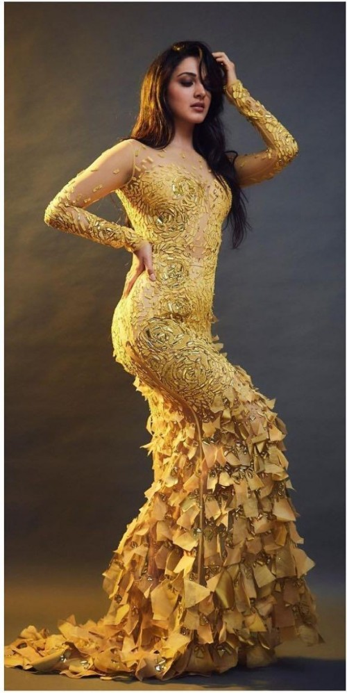 Yay or nay? Kiara advani seen wearing yellow trill feather gown - SeenIt