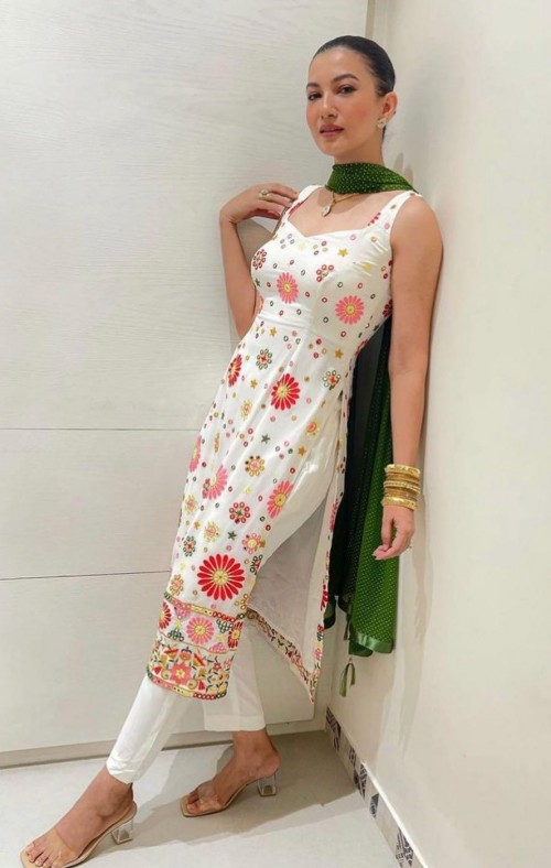 Yay or nay? Gauhar Khan seen wearing a white and green suit on the occasion of Eid this year - SeenIt