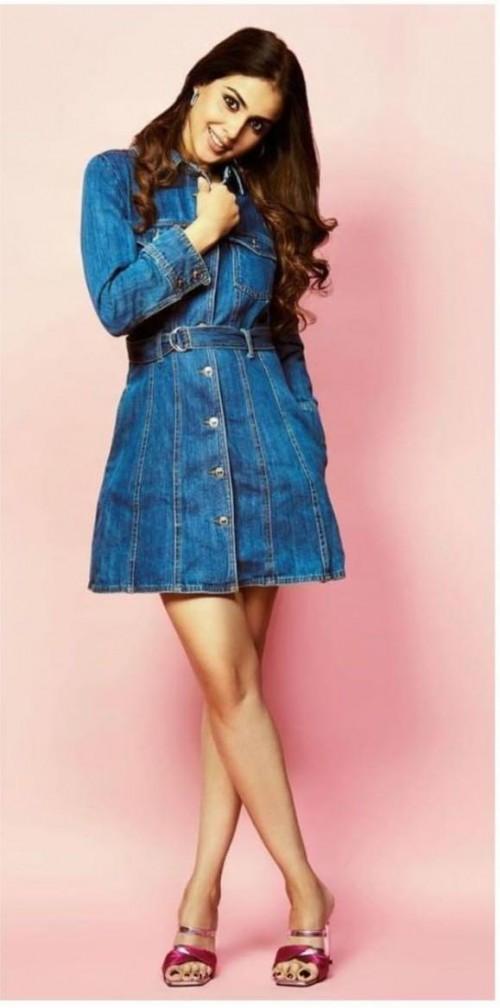 Looking for a similar denim dress like Genelia d Souza is seen wearing - SeenIt