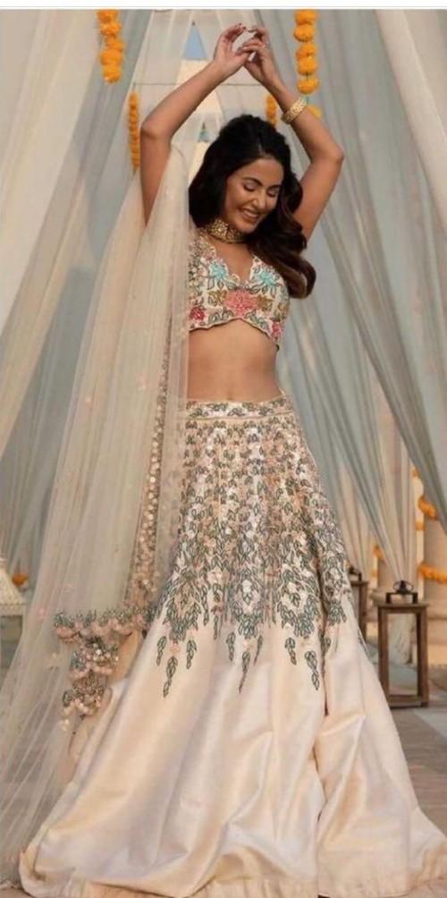 Yay or nay? Hina Khan seen wearing a kalki fashion embroidered lehenga attire - SeenIt