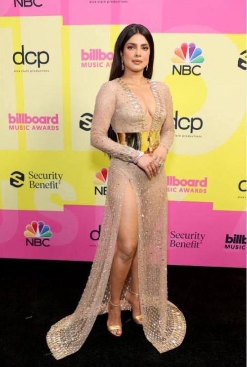 Yay or nay? Priyanka Chopra attends the Billboard music awards 2021 wearing Dolce & Gabanna - SeenIt