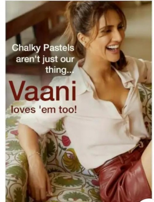 looking for this shirt worn by Vaani Kapoor - SeenIt