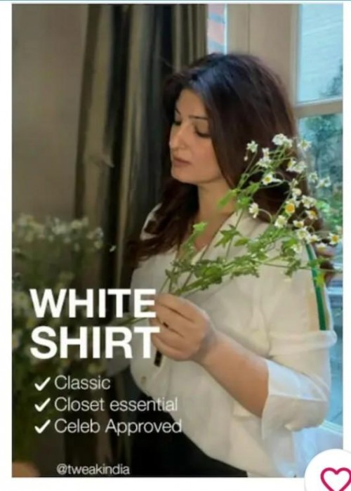 looking for this shirt worn by Twinkle Khanna - SeenIt
