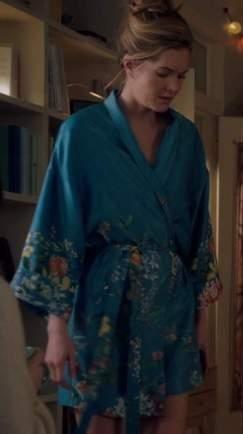 Sutton's blue floral robe please - SeenIt