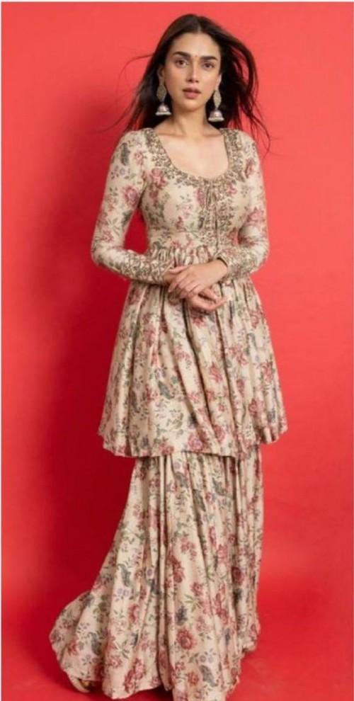 Yay or nay? Aditi Rao Hydari seen wearing a printed sharara set by Astha Narang - SeenIt