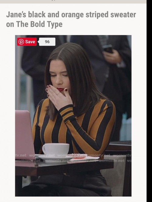 I'm looking for the same type bold vertical striped sweater or full sleeve top. - SeenIt