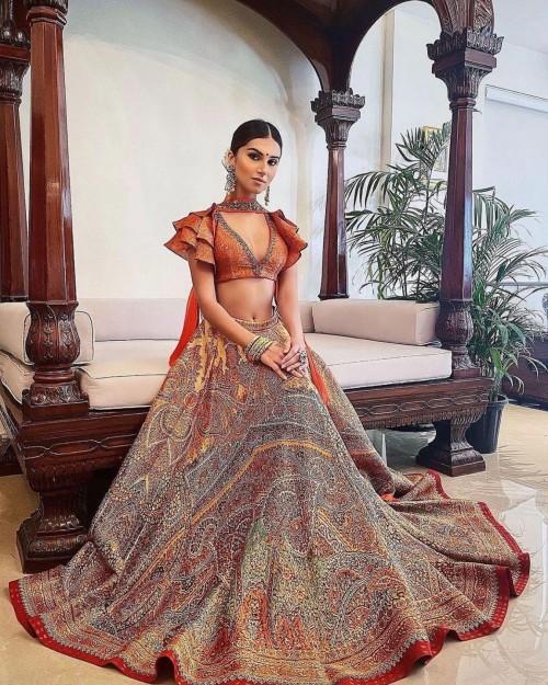 Yay or nay? Tara sutaria seen wearing a Ritu Kumar embroidered lehenga outfit - SeenIt