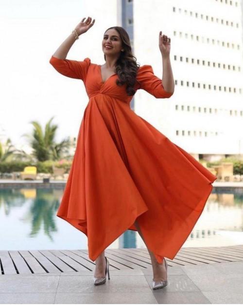 Yay or nay? Huma Qureshi seen wearing an orange midi dress - SeenIt