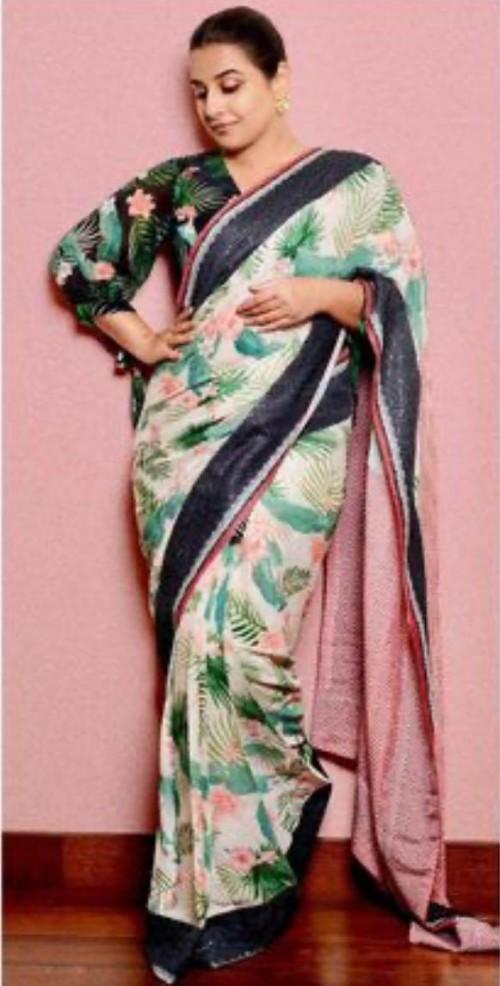 Looking for a similar saree online like Vidya Balan is seen wearing - SeenIt