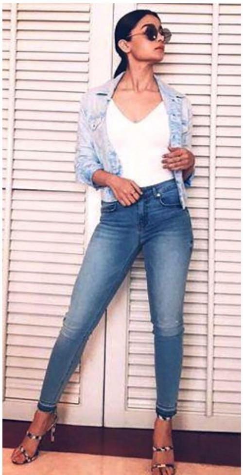 Alia Bhatt's similar skinny denims please - SeenIt