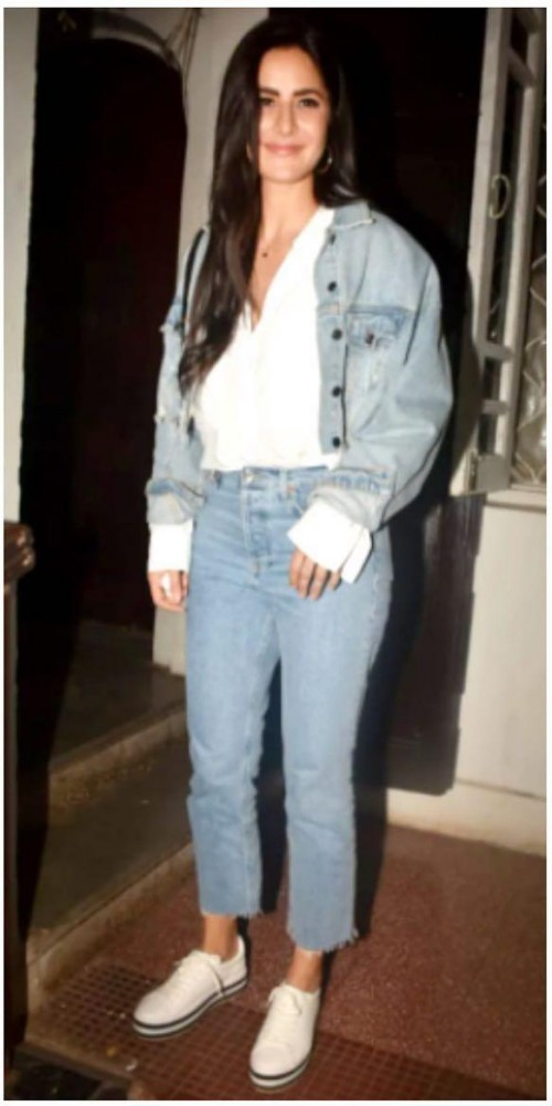 Katrina Kaif's similar blue crop jacket please - SeenIt