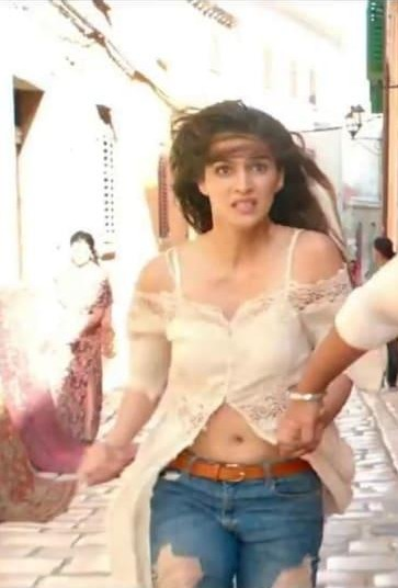 I'm looking for a similar off shoulder long length  top wore by Kriti Sannon in Raabta (2017) - SeenIt