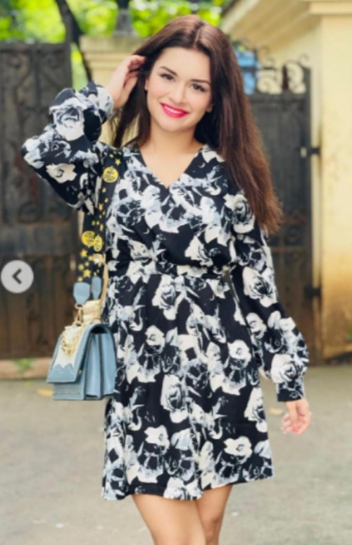 This exact same dress with the bag like avneet kaur is wearing - SeenIt