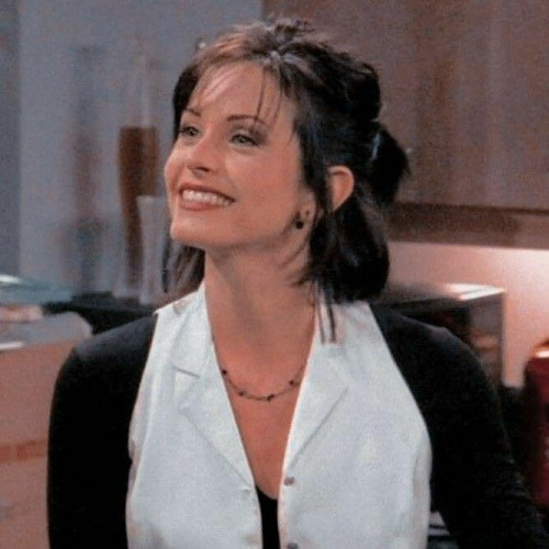 I'm looking for the earrings and necklace that Monica is wearing. - SeenIt