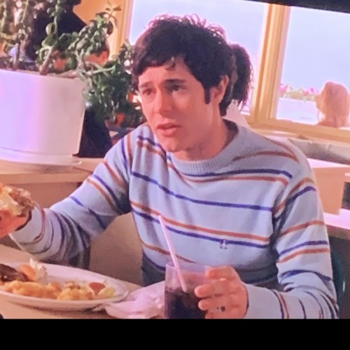 I'm looking for a sweater similar to this striped sweater Seth Cohen wears in the O.C in season 2 - SeenIt