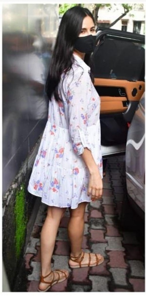 Yay or nay? Katruna Kaif sen wearing a white floral printed dress - SeenIt