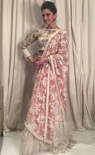 Love this lehenga! Want something similar to this neted lehenga worn by deepika  :) - SeenIt