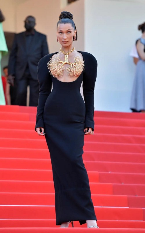Yay or nay? Bella Hadid attends the Cannes film festival screening 2021 - SeenIt