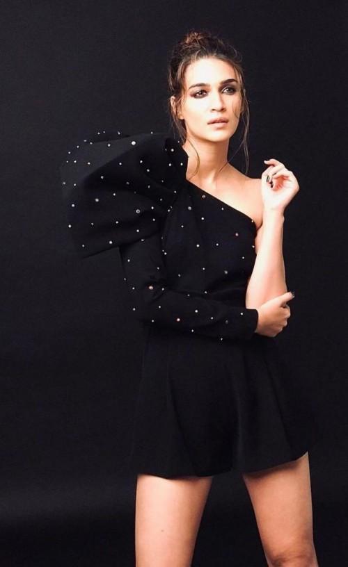 Yay or nay? Kriti Sanon seen wearing a black single shoulder dress - SeenIt