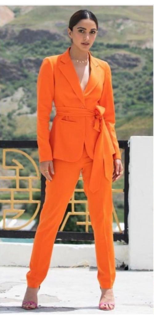 Kiara Advani's orange pant suit please - SeenIt